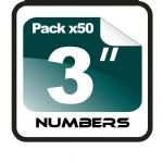 "3"" Race Numbers - 50 pack"